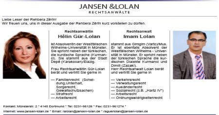 JANSEN &LOLAN RECHTSANWÄLTE