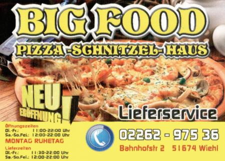 BIGFOOD PIZZA SCHNITZEL HAUS