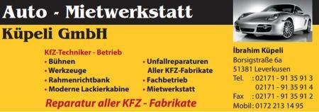 Auto - Mietwerkstatt Küpeli GmbH