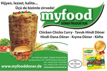 MY FOOD MS GMBH  DÖNER PRODUKTION